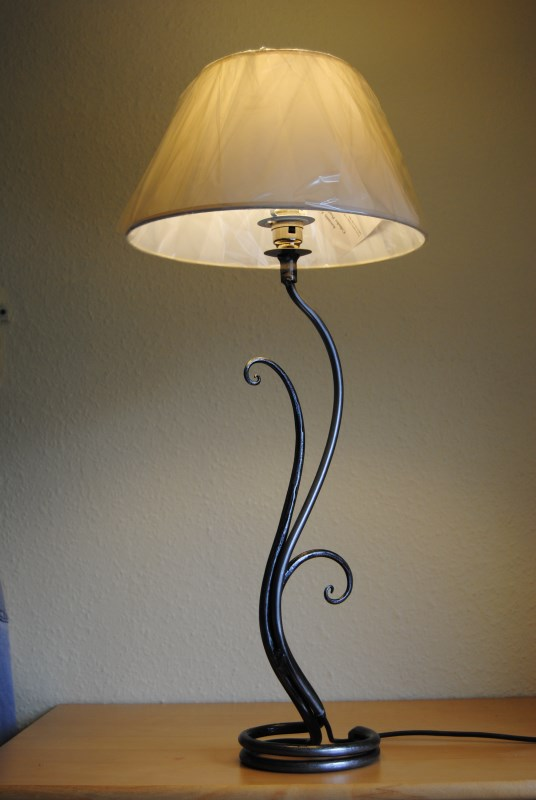 Belltrees Forge wrought iron table lamp Fern Lamp