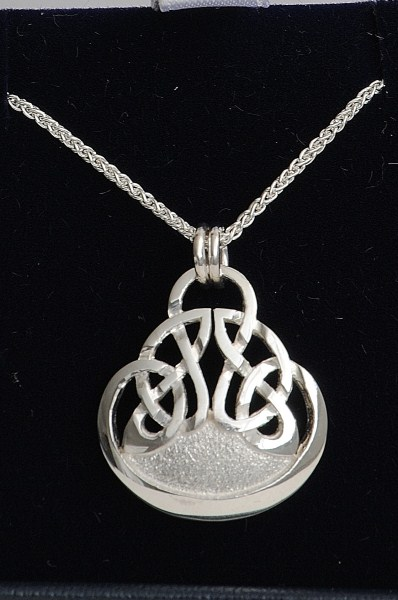 Celtic Interlaced Frosted Knot Necklace