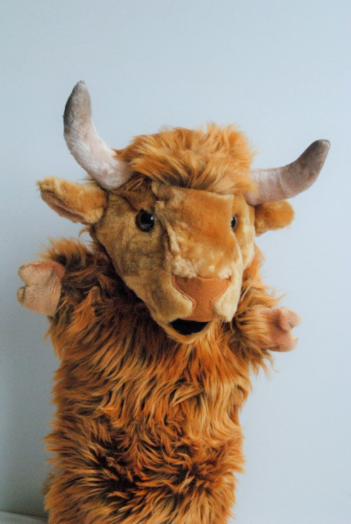 Highland Cow Hand Puppet
