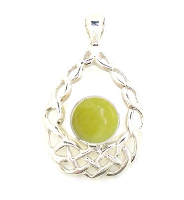 Scottish Green Marble Celtic Cradle Pendant HP14