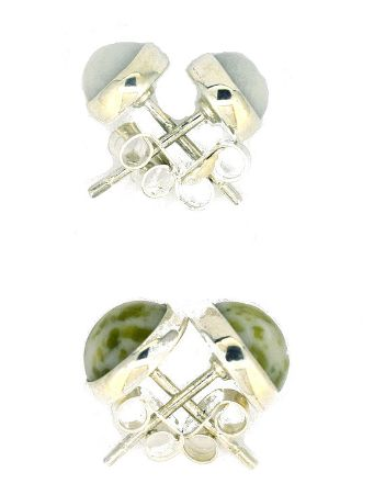 Scottish Green Marble Stud Earrings small IS2